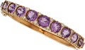 Estate Jewelry:Bracelets, Amethyst, Diamond, Gold Bracelet. ...