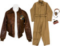 Militaria:Uniforms, Type A-2 Flight Jacket Group Attributed to Aerial Gunner Angelo Joseph Zangari, 71st Bomb Squadron, 38th Bomb Group, 5th Air F... (Total: 4 )