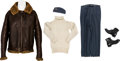 Militaria:Uniforms, WWII Royal Air Force Ace Wing Commander Roland Prosper Beaumont's Irvin Flight Jacket, Sweater, Cap and Boots.... (Total: 5 )