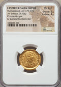Ancients:Roman Imperial, Ancients: Theodosius I (AD 379-395). AV solidus (4.46 gm). NGC Choice AU 5/5 - 4/5....