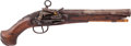Handguns:Muzzle loading, 18th Century Spanish Miquelet Pistol Marked Queiro....