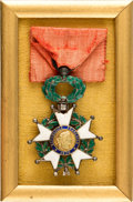 Military & Patriotic:WWI, Portrait of French General Mare-Eugéne Debeney Framed With an Original French Legion of Honor Medal....