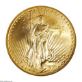 Saint-Gaudens Double Eagles: , 1925-D $20 MS65 NGC. In a year of moderate production at the DenverMint, 2,938,500 double eagles were struck in 1925. Appa...