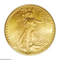 Saint-Gaudens Double Eagles: , 1926-S $20 MS65 PCGS. A bold striking with an intense, satiny sheenand attractive lemon-yellow peripheral highlights. What...