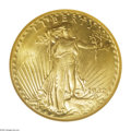Saint-Gaudens Double Eagles: , 1932 $20 MS65 NGC. In the early 1930s, few gold coins weredistributed, despite instances of rather large mintages. This is...