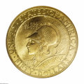 Commemorative Gold: , 1915-S $50 Panama-Pacific 50 Dollar Round MS66 NGC. We are pleasedto offer an example in this lot that is among the finest...