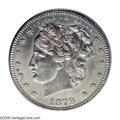 1879 25C Washlady Quarter Dollar, Judd-1596, Pollock-1786, R.8, PR63 PCGS. This is the only example of Judd-1596. Barber...