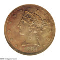 1884 $5 Five Dollar, Judd-1736, Pollock-1947, R.8, PR64 Brown NGC. This is the only example of Judd-1736. From regular i...