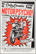 "Movie Posters:Exploitation, Motor Psycho! (Eve Productions, 1965). One Sheet (27"" X 41"").Exploitation.. ..."
