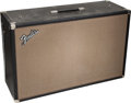 Musical Instruments:Amplifiers, PA, & Effects, Circa 1965 Fender Bandmaster Black Guitar Speaker Cabinet....