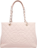 "Luxury Accessories:Bags, Chanel Pink Quilted Caviar Leather Grand Shopping Tote Bag. VeryGood to Excellent Condition. 13"" Width x 10"" Height x 5"" ..."