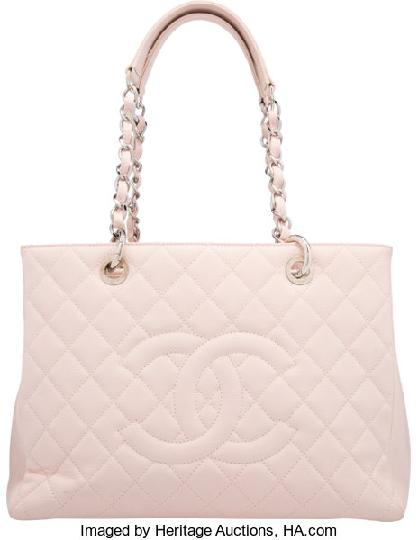 516b0f112e44 VeryGood; Luxury Accessories:Bags, Chanel Pink Quilted Caviar Leather Grand Shopping  Tote Bag.