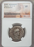 Ancients:Roman Provincial , Ancients: EGYPT. Claudius I (AD 41-54). BI tetradrachm. NGC VF....