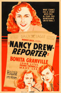 "Movie Posters:Mystery, Nancy Drew, Reporter (Warner Brothers-First National, 1939). SilkScreen Poster (40"" X 60"").. ..."