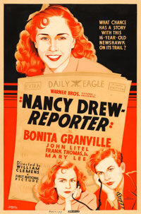 "Nancy Drew, Reporter (Warner Brothers-First National, 1939). Silk Screen Poster (40"" X 60"")"