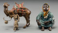 Decorative Arts, Continental, Two Austrian Franz Bergman-Style Cold-Painted Bronze Figures. Marksto seated figure: (amphora-B), GESCHUTZ, 2897. Marks...(Total: 2 Items)