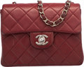 "Luxury Accessories:Bags, Chanel Red Quilted Lambskin Leather Square Flap Bag. Very GoodCondition. 6.5"" Width x 5"" Height x 2.5"" Depth. ..."