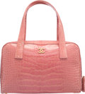 "Luxury Accessories:Bags, Chanel Shiny Pink Crocodile Tote Bag. Very Good Condition.11.5"" Width x 7"" Height x 4"" Depth. ..."