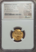 Ancients:Byzantine, Ancients: Constans II (641-668). AV solidus (3.94 gm). NGC MS 3/5 -3/5, clipped....