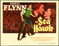 "Movie Posters:Swashbuckler, The Sea Hawk (Warner Brothers, 1940). Linen Finish Title Lobby Card(11"" X 14"").. ..."