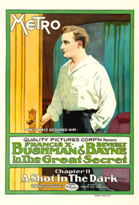"The Great Secret (Metro, 1917). One Sheet (28.5"" X 42"") Chapter 11 -- ""A Shot in the Dark."""