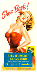 "Movie Posters:Film Noir, Affair in Trinidad (Columbia, 1952). Three Sheet (41"" X 79.5"")....."
