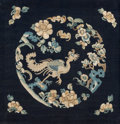 Asian:Chinese, A Chinese Silk Embroidery with Phoenix Motif. 16-5/8 inches high x 16-1/2 inches wide (42.2 x 41.9 cm) (textile). 18-1/4 inc...