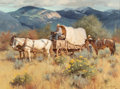 Fine Art - Painting, American, Gary Lawrence Niblett (American, b. 1943). Road to Taos,1986. Oil on canvas. 18 x 24 inches (45.7 x 61.0 cm). Signed an...