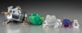 Art Glass:Daum, Five Glass and Metal Frog and Toad Figures, 20th century. Makersincluding Lalique, Daum, and Frank Meisler. 4-3/4 inche...(Total: 5 Items)