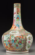 Asian:Chinese, A Chinese Rose Medallion Porcelain Bottle Vase, late 19thcentury. 13-1/8 inches high (33.3 cm). ...