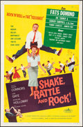 "Movie Posters:Rock and Roll, Shake, Rattle and Rock (American International, 1956). One Sheet (27"" X 41""). Rock and Roll.. ..."