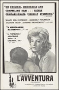 """Movie Posters:Foreign, L'Avventura (Janus, 1961). One Sheet (27"""" X 41""""). Foreign.. ..."""