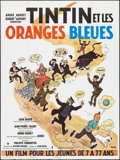 "Movie Posters:Foreign, Tintin and the Blue Oranges (Pathe Consortium Cinema, R-1980s). French Grande (47"" X 62.75""). Foreign.. ..."