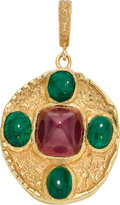 Estate Jewelry:Pendants and Lockets, Ruby, Emerald, Gold Pendant. ...