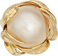 Estate Jewelry:Rings, Mabe Pearl, Gold Ring. ...