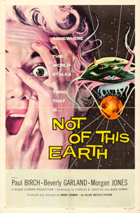 "Not of This Earth (Allied Artists, 1957). One Sheet (27"" X 41"")"