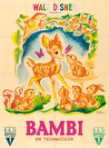 "Movie Posters:Animation, Bambi (RKO, 1948). First Post-War Release French Grande (46"" X62.5"") Michel Gerard Artwork.. ..."