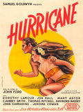 "Movie Posters:Adventure, The Hurricane (United Artists, 1937). French Grande (46.25"" X62.25"").. ..."