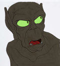 Animation Art:Production Cel, The Lord of the Rings Gollum Production Cel and AnimationDrawing (Ralph Bakshi, 1978).... (Total: 2 )