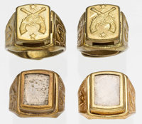 Tom Mix Magnet Rings and Look-Around Rings Radio Premiums Group of 7 (Ralston, c. 1940s).... (Total: 7 Illustration Art)