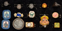 Radio Premium Rings Group of 14 (Various Manufacturers, 1930s-40s).... (Total: 14 Items)