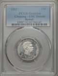 Coins of Hawaii , 1883 25C Hawaii Quarter -- Cleaning -- PCGS Genuine. UNC Details.NGC Census: (6/951). PCGS Population: (7/1288). CDN: $225...