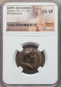 Ancients:Roman Provincial , Ancients: EGYPT. Hadrian (AD 117-138). BI tetradrachm. NGC ChoiceVF....