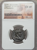 Ancients:Roman Provincial , Ancients: EGYPT. Elagabalus (AD 218-222). BI tetradrachm. NGCChoice VF....
