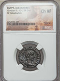 Ancients:Roman Provincial , Ancients: EGYPT. Gordian III (AD 238-244). BI tetradrachm. NGCChoice XF....