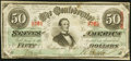 Confederate Notes:1863 Issues, T57 $50 1863 PF-14 Cr. 412.. ...