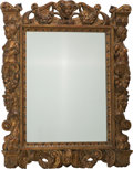 Decorative Arts, Continental:Other , A Continental Baroque-Style Giltwood Mirror, 19th century. 40 h x32 w x 3-1/2 d inches (101.6 x 81.3 x 8.9 cm). PROPERTY ...