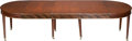 Furniture , A Large Federal-Style Mahogany Dining Table, 19th century. 28-3/4 h x 117-1/2 w x 56 d inches (73.0 x 298.5 x 142.2 cm) (inc... (Total: 4 Items)