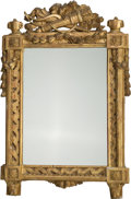 Decorative Arts, French:Other , A Louis XVI Giltwood Hall Mirror, late 18th century with laterelements. 39-3/4 h x 25 w x 3-1/2 d inches (101.0 x 63.5 x 8....