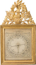 Decorative Arts, French:Other , A Louis XVI Carved and Giltwood Barometer, late 18th century.Marks: Gohin Ingenieur Opticien, Rue Neuve Saint EustacheNo...